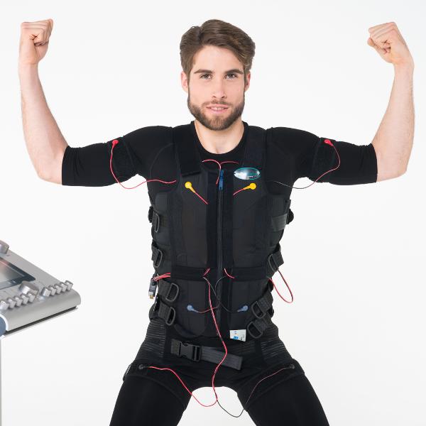 La estimulación eléctrica muscular (EMS) es la estimulación del músculo y su contracción usando impulsos y frecuencias concretas estudiadas.